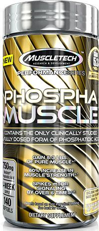 Phospha Muscle, By MuscleTech, 140 Softgels, Image