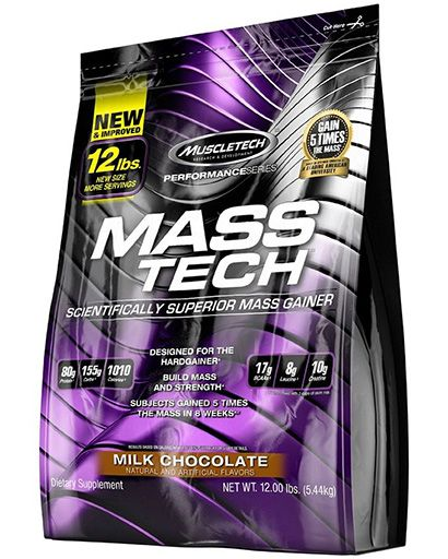 Mass Tech By MuscleTech, Weight Gainer, Chocolate, 12lb