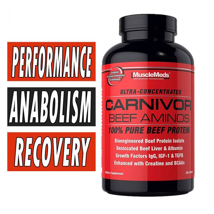 Carnivor Beef Aminos By MuscleMeds, 300 Tabs
