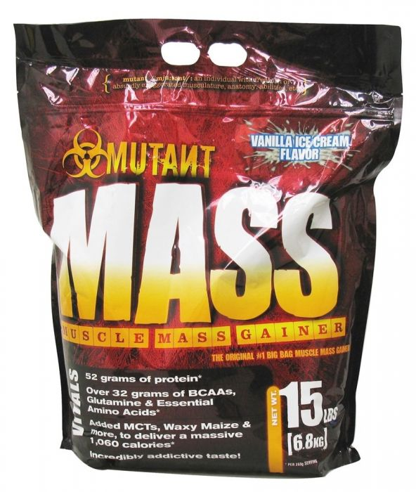 Mutant Mass Vanilla Ice Cream 15lb Front of Bag