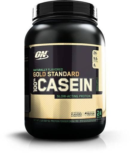 Natural Gold Standard Casein, Optimum Nutrition, French Vanilla, 2lb