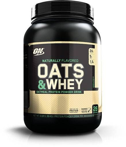 Optimum Nutrition 100% Natural Oats & Whey, Vanilla Bean, 3lb