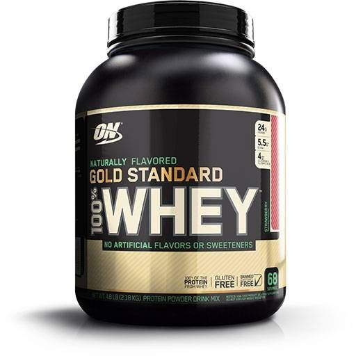 Natural 100% Whey, Optimum Nutrition, Strawberry, 5lb