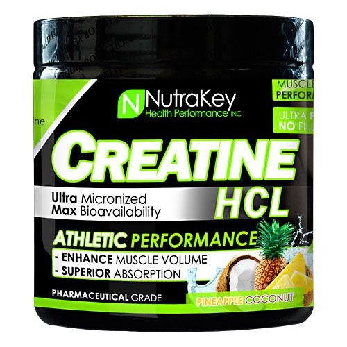NutraKey Creatine HCL, Pineapple Coconut, 125 Servings