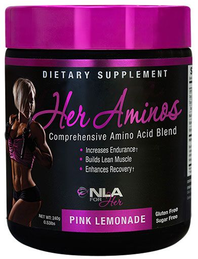 Her Aminos By NLA For Her, Pink Lemonade, 30 Servings
