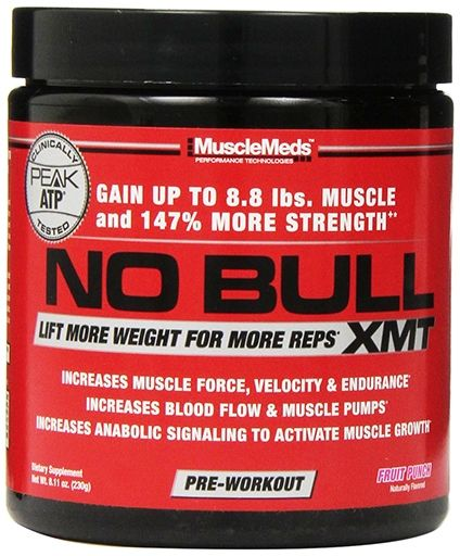 NO Bull XMT By MuscleMeds, Fruit Punch 20 Servings