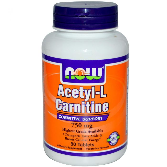 NOW Acetyl-L-Carnitine 750 mg - 90 Tablets