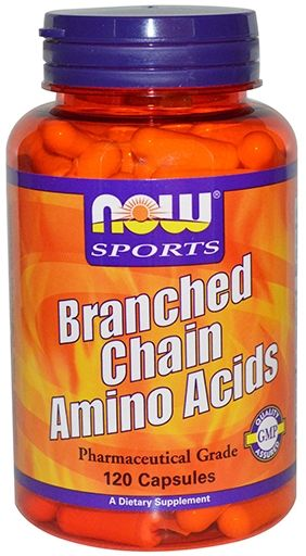 NOW Branched Chain Amino Acids - 120 Caps