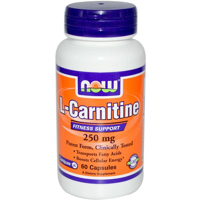 NOW L-Carnitine 250 mg Tartrate-L-Carnipure - 60 Caps