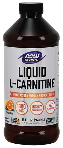 NOW L-Carnitine Liquid Citrus Flavor 1000 mg - 16 oz.