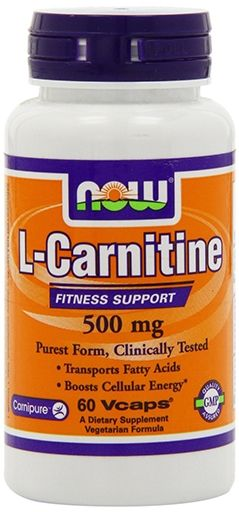 NOW L-Carnitine 500 mg - 60 VCaps