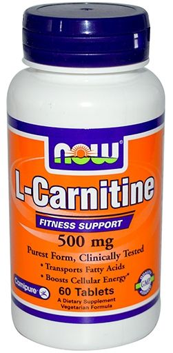 NOW L-Carnitine 500 mg - 60 Tabs
