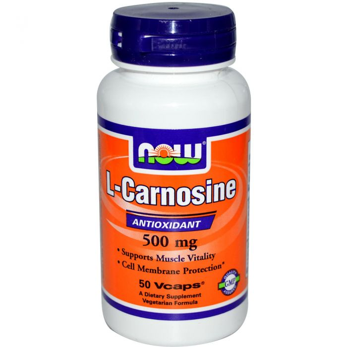 NOW L-Carnosine 500 mg  - 50 Vcaps