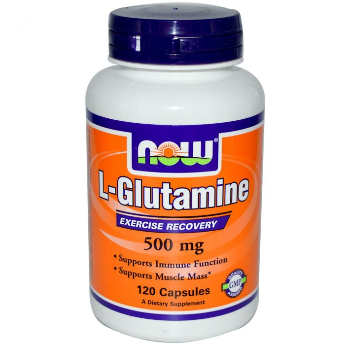 NOW L-Glutamine 500 mg - 120 Caps