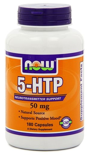 NOW 5-HTP 50 mg - 180 Capsules