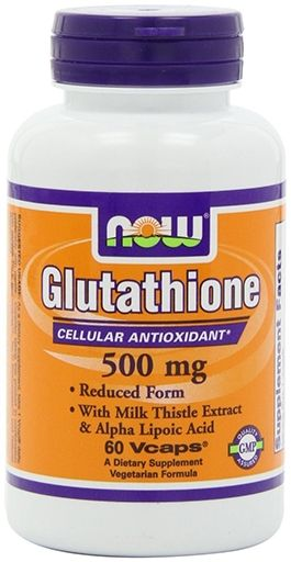 NOW Glutathione 500 mg - 60 Vcaps