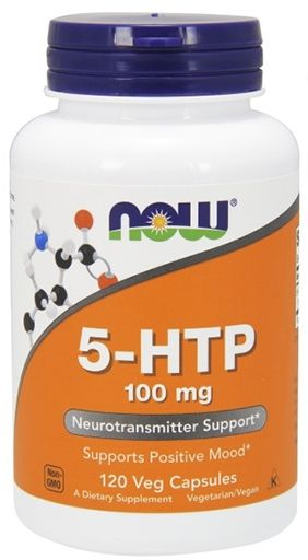 NOW, 5-HTP, 100 mg, 120 Vcaps