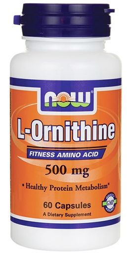 NOW L-Ornithine 500 mg - 60 Caps