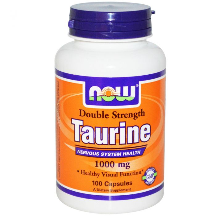 NOW Taurine 1000 mg - 100 Caps