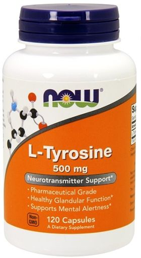 NOW L-Tyrosine 500 mg - 120 Caps