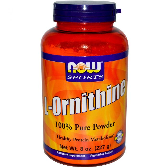 NOW L- Ornithine HCl-Vegetarian - 8 oz.