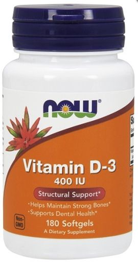 NOW Vitamin D-3 400 IU - 180 Softgels