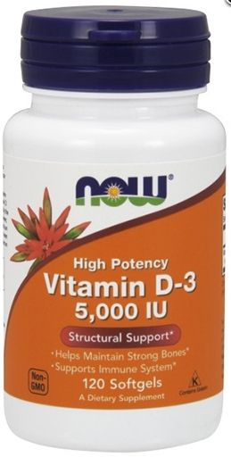 NOW Vitamin D-3 5,000 IU - 120 Softgels