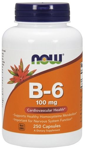 NOW Vitamin B-6 100 mg - 250 Caps