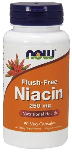 NOW Flush-Free Niacin - 250 mg - 90 Vcaps