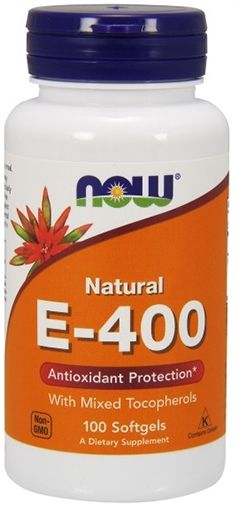 NOW Vitamin E-400 IU Mixed Tocopherols - 100 Softgels