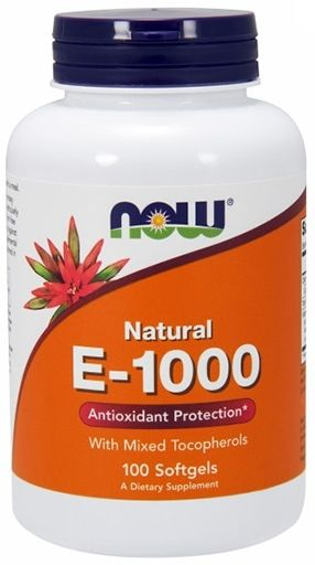 NOW Vitamin E-1000 IU - 100 Softgels