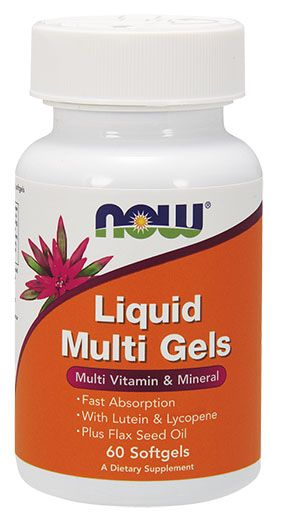 NOW Liquid Multi Gels - 60 Softgels