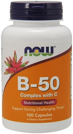 NOW Vitamin B-50 Complex with 250 mg Vitamin C - 100 Caps