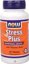 NOW Stress Plus - Vegetarian - 50 Tabs