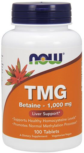 NOW TMG (Trimethylglycine) 1,000 mg - 100 Tabs