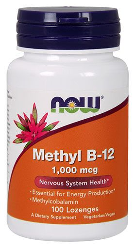 NOW Methyl B-12 1,000 mcg - 100 Lozenges