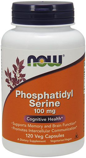 NOW Foods Phosphatidyl Serine 100 mg - 120 Veg Capsules