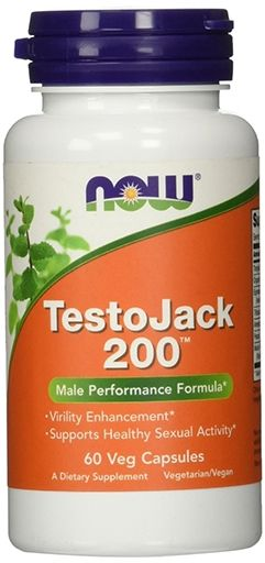 NOW Sports, TestoJack 200, Extra Strength, 60 Veg Caps,