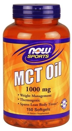 NOW Sports, MCT Oil, 1000 mg, 150 Softgels,