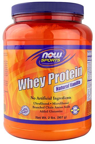 NOW Sports, Whey Protein, Natural Vanilla, 2lb