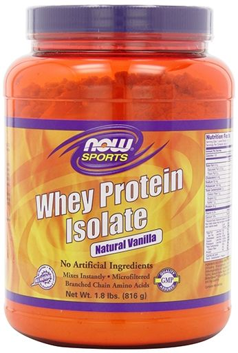 OW Sports, Whey Protein Isolate, Natural Vanilla, 1.8lb