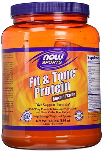 Fit and Tone Protein By NOW Foods, Mocha Flavor 22 Servings