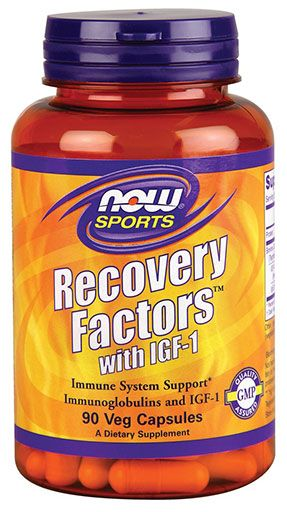 Recovery Factors with IGF-1 By NOW Foods, 90 Veg Caps Image