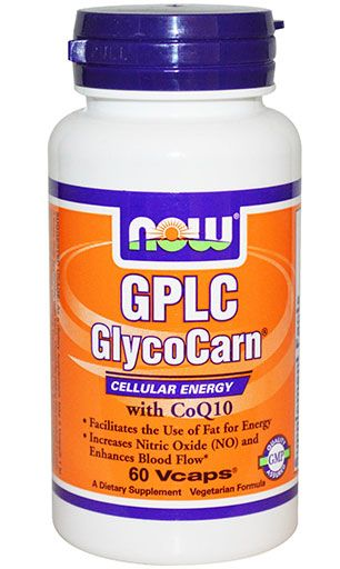 GPLC GlycoCarn with CoQ10 By NOW Foods, 60 Veg Caps Image