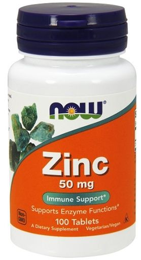 Zinc, By NOW Foods, 50 mg, 100 Tabs,