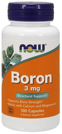 Boron, By NOW Foods, 3 mg, 100 Caps,