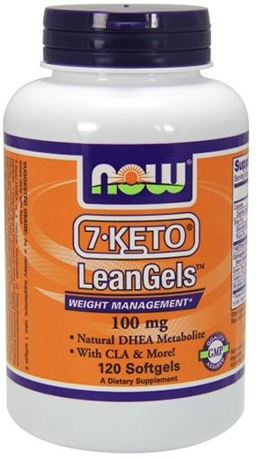 NOW 7-Keto LeanGels, 100 mg, 120 Softgels