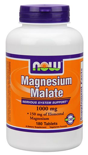 NOW Magnesium Malate 1000 mg Vegetarian - 180 Tabs