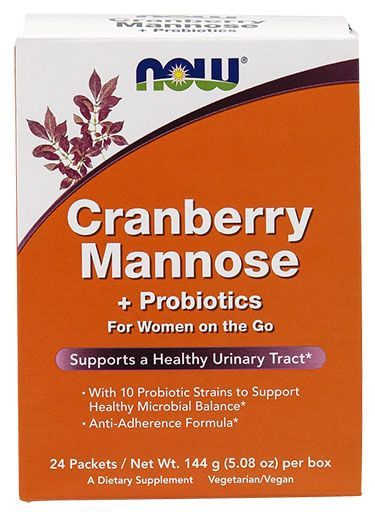 Cranberry Mannose Plus Probiotics By NOW Foods, 24 Packets