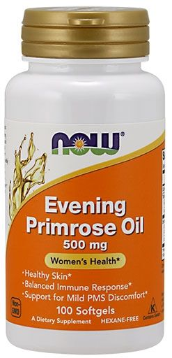 Evening Primrose Oil By NOW, 500 mg, 100 Softgels